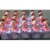 Boneca De Biscuit Rosa Com Dourado - Caixa Com 40 Peças