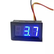Voltimetro Digital Medidor Bateria Automotiva Com 3 Fios