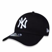 Boné Aba Curva Mlb New York Yankees Preto Ajuste Snapback