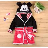 Roupão Infantil Saída De Banho Minnie Michey Mouse