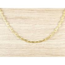 Cordão Corrente Masculina Cartier 70cm 2mm Banhada Ouro