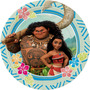 1 Lamina Comestible + 2 Planchas Toppers + Stickers Moana