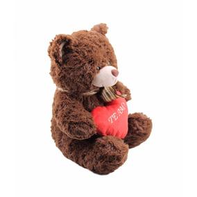 Urso De Pelúcia Coração Ursinho Marron Fofy Toys Te Amo Rsp