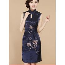 Vestido Chinês Japonês Qipao Festa + Pronta Entrega