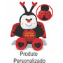 Joaninha Personalizada - Cx 20 Unidades - Lembrancinha