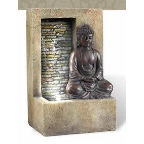 Fuente De Agua Modelo 21 De Buda Con Cascada En Muro Lloron