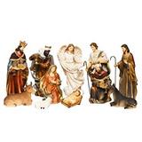 Pesebre Navidad Belén - 8 Pulgadas Nacimiento En 11 Figurin