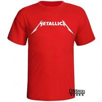 Camisas Bandas Rock Metal - Metallica Promoção !!!