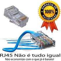 Pacote C/100 Conector Rj45 (ideal Para Tp Link Dlink Cisco)