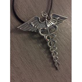 Collar Broche Símbolo Medicina Hermes Percy Jackson