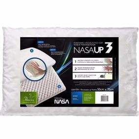 4 Travesseiro Fibrasca Nasa Up3 Original+ 4 Capa Impermeável