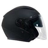 Casco Motociclismo Jet Lazer Jh1 Negro Mate Talla Xl