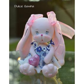 Conejos En Porcelana Fría Adorno O Regalo