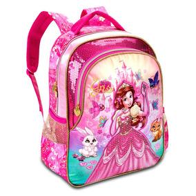 Mochila Escolar Menina Princesas Yris Criança Caderno