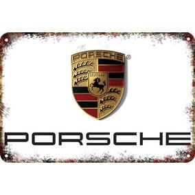 Carteles Antiguos De Chapa Gruesa 60x40cm Porsche Au-378
