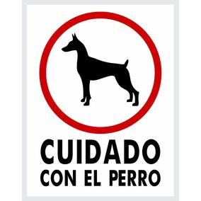 Letrero Cuidado Con El Perro - 23x30cm (estireno)