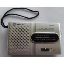 Rádio Portátil Am Fm Radio Pequeno De Bolso + 4 Pilhas Sony