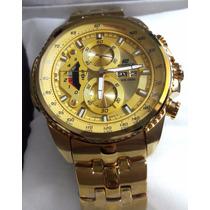 Relogio Casio Edifice Dourado Lancamento Ouro Casio Oferta