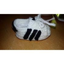 Zapatillas A Crochet Tipo Adids