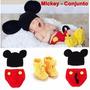 Newborn Fantasia Conjunto Mickey Ou Minnie - Pronta Entrega!
