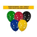 Balões Temáticos - Estrelas N°09 - 50 Und Frete Grátis
