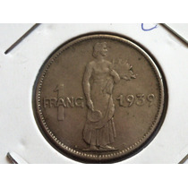 Raridade - Antiga Moeda De Luxemburgo 1 Franco 1939