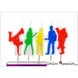 5 Velas Rock Star Banda Teens Fiesta Disco Deco Cumple