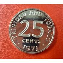 Trinidad Y Tobago Moneda 25 Centavos 1971