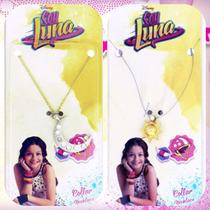 Soy Luna Collar Cadenita Colgante Medallita Dije Plástico