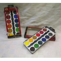 Acuarelas Koh-i-noor X 12 Colores Cubritivas O Transparentes