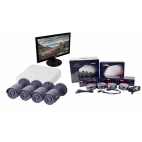Camaras De Seguridad Cctv 4ch Monitor 500gb Videovigilancia