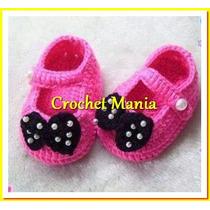 3 Apres D Zapatitos Tejidos A Crochet Para Niñas 0-12 Meses