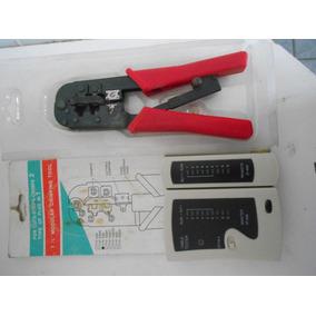 Alicate Para Crimpagem Rj45 E Rj11 + Testador