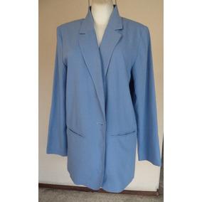 Saco Color Azul Con Solapa Talla-12 Sag Harbor St289