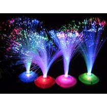 Oferta Centros De Mesa Luminoso Fibra Optica Lisos S/pila X6
