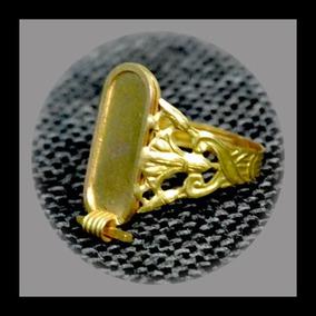 Egito Anel Ouro 18 K Com Cruz Ansata.lotus,o Olho De Horus