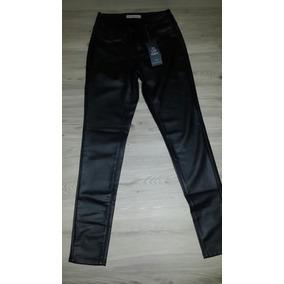 Jeans Negro Cuerina Dama Talla 5