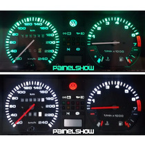 Gol Gti Gts Gls Cl Gl Acrilico Translucido P/ Painel + Leds