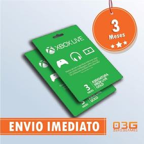 Xbox Live Gold Brasil Br - Cartão De 3 Meses Xbox 360 / One
