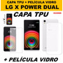 Capa Tpu + Película Vidro Temperado Lg X Power Tela 5.3 K220