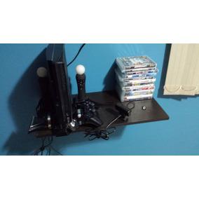 Ps3 Com Um Controle Original Hd 160 Com 14 Jogos E Kit Movie