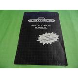 Manual Genesis Mega Drive 16 Bit Original Sega