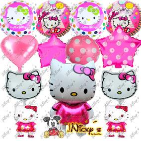 Paquete De Globos Hello Kitty Estrellas, Polka Dots Corazon
