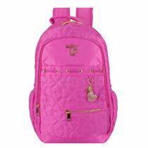 Mochila Capricho Love Pink Rosa 48902 2017 Escolar