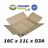 50 Caixas De Papelão 16 X 11 X 03 Tipo 0b Correio Pac Sedex