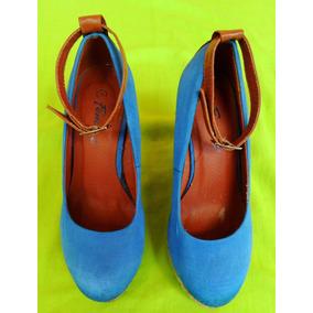 Zapatos Femini Plataforma (talla 36 - 23 Cms) Tacón Alto