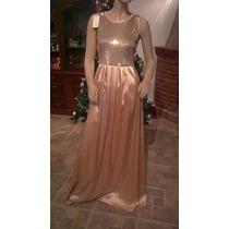 Vestido De Fiesta Dorado