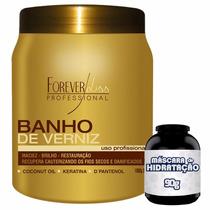 Banho De Verniz 1kg + Brinde Creme % Hidratação Profunda