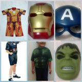 Kit Super Heróis ( 03 Roupas E 03 Máscaras )