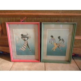 2 Cuadros Con Imagen De Bailarinas Cariocas $199